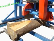 portable swing blade sawmill for lumber/Automatic Double Blades Angle Circular saw mill