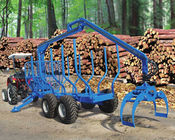 forestry machine timber ATV log trailer for tractor with crane with grapple