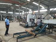 China CNC Twin Vertical Band Saw sawmill equipment for cutting wood log into square timber factory
