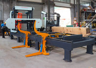 Hydraulic horizontal band sawing machine saw mills for automatic wood cutting