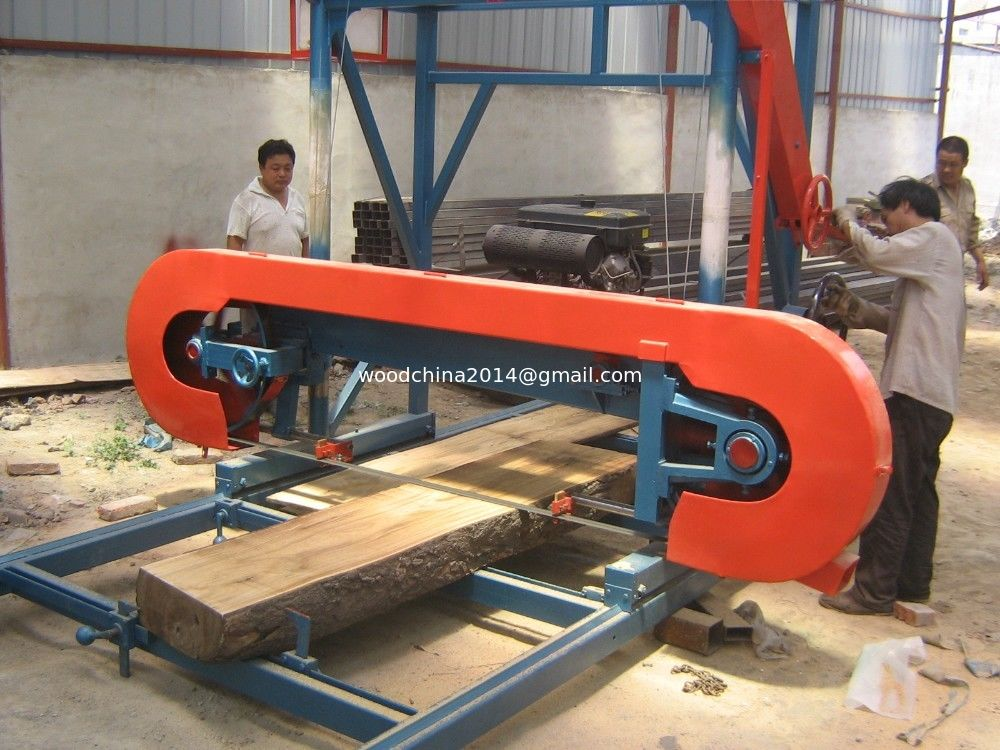 Diesel engine motor portable horizontal log band saw wood for Electric motor for bandsaw