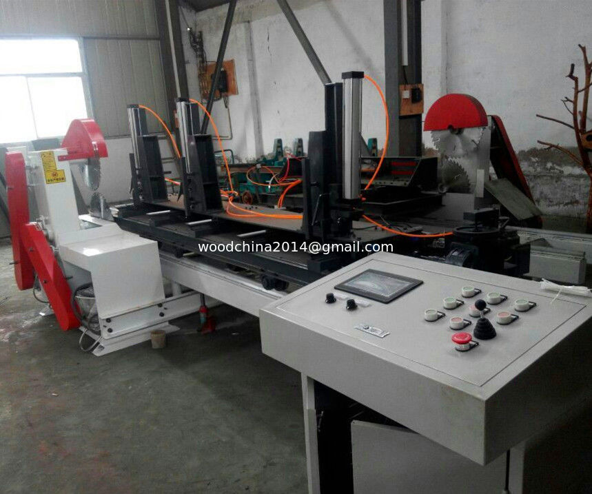 Computer automatic Twin Blades Circular Saw /Wood Sliading Table Circular Sawmill Machine