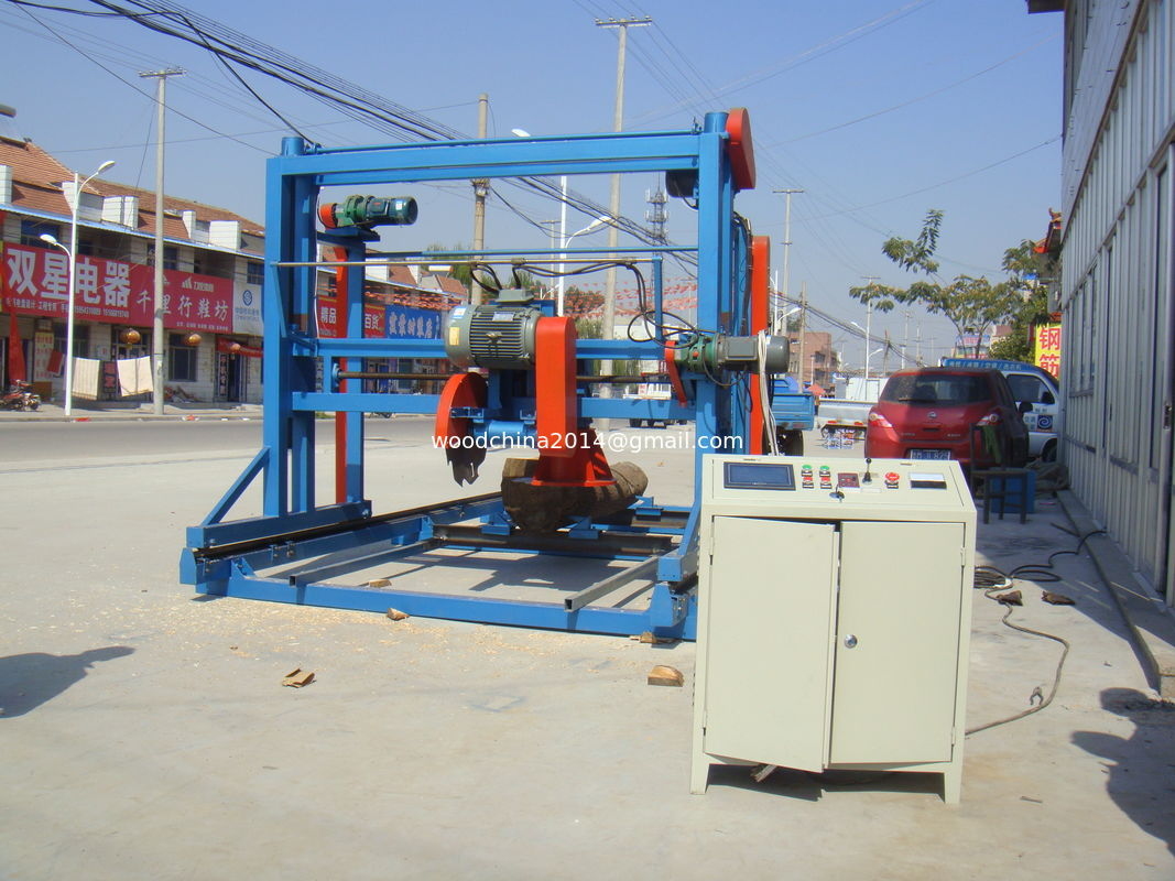 6meters Log Cutting Double Blades Angle Circular Saw sawmill Machines with electric inverter