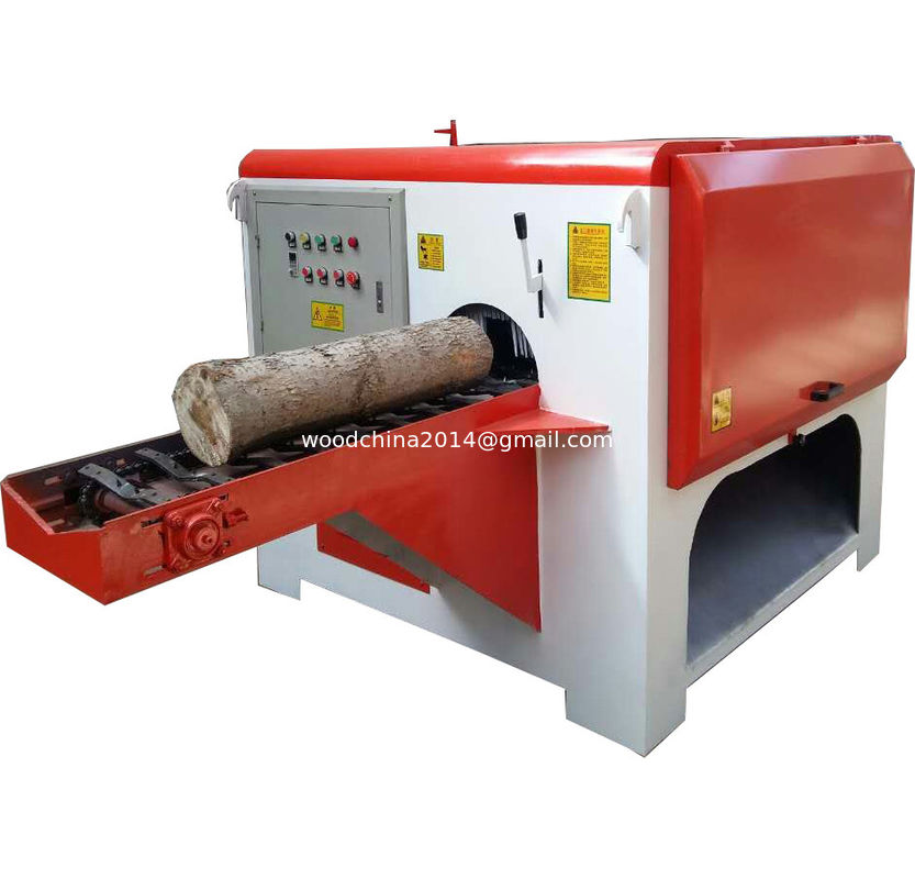 Round log cutting multiple rip saw machine, multi blade circular saw rip saw wood cutting machine