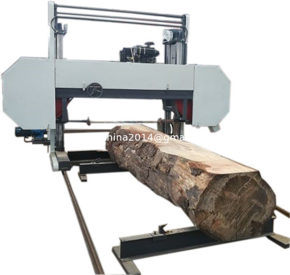 MJ2000D Large Wood Horizontal Bandsaw Mill With 60 HP Diesel Engine