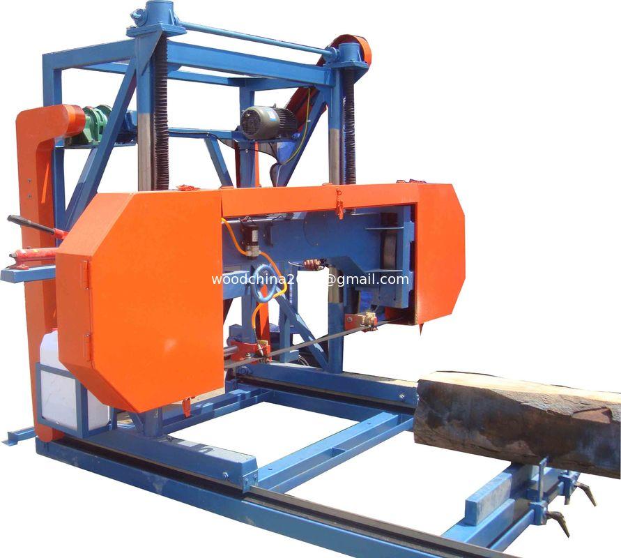wood working machine electric portable horizontal band saw mill
