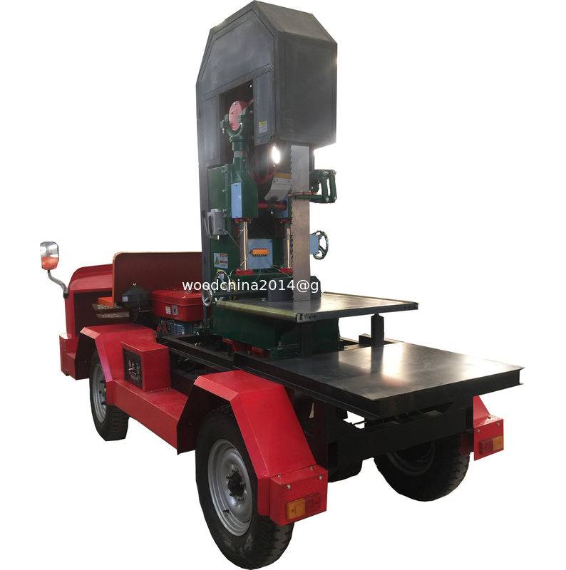Mobile type diesel portable sawmill wood log cutting machinery /Vertical Cutting bandsaw