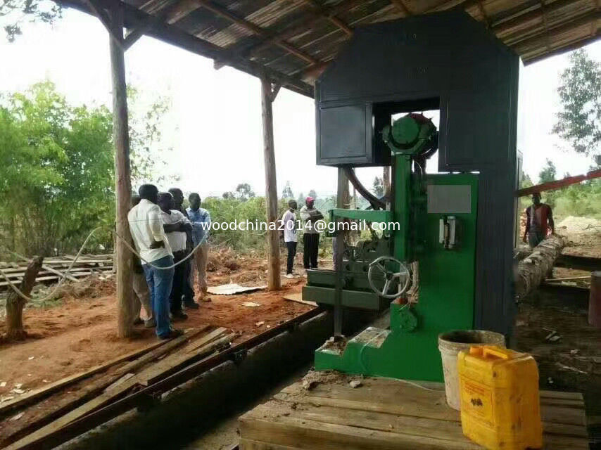 Dia. 1200mm sawing CNC Automatic Feeding Vertical Band Sawmill With Log Carriage