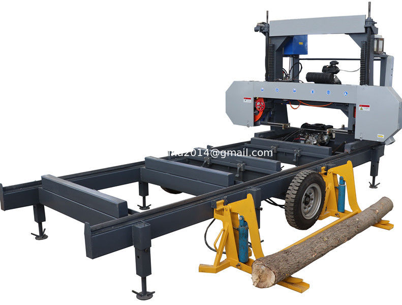 Portable Horizontal Band Sawmill MJ1300 with diesel engine, Log band sawmill saw mills