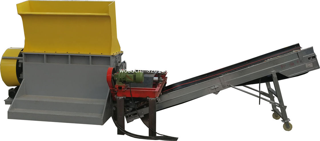 Mobile wood pallet crusher wood chip crusher wood crushing machine with shaft diameter 440mm