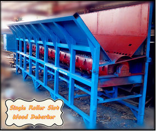 China tree bark removing machine/wood log debarker for sale of Heavy Duty Single Roller Wood Slot Log Debarker factory