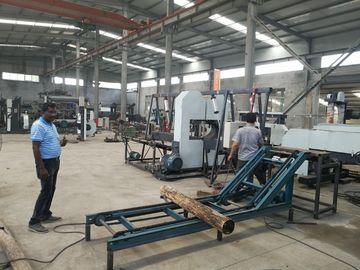 China CNC Twin Vertical Band Saw sawmill equipment for cutting wood log into square timber distributor