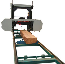 China China forest portable sawmill horizontal diesel band saw /mobile bandsaw with rails factory