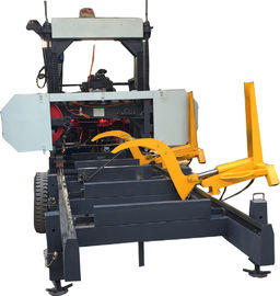 China Diesel Engine Portabe Horizontal Band Saw Cutting Machine For Wood distributor