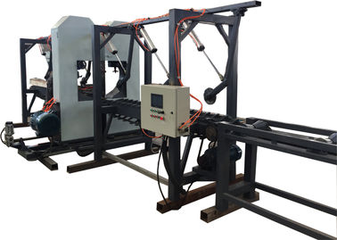 China Twin Vertical Bandsaw Wood Cutting Saws Band Sawmill/ Log twin bandsaw distributor