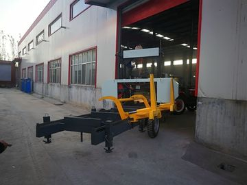 China Forestry equipment horizontal wood portable band saw Hydraulic sawmill distributor