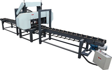 China Woodworking Slabs Cutting Saw Mill, Horizontal band saw, single head resaws distributor