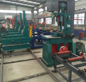 China Automatic wood band saw machine, vertical band sawmill with carriage, wood mill distributor