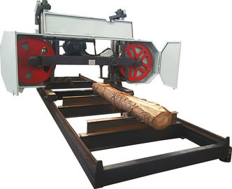 China Big bandsaw wheels heavy duty band sawmill, Horizontal saw mill machine for sale distributor