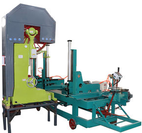 China 42'' Log wood cutting Vertical band bandsaw saw mill machine with electric carriage distributor