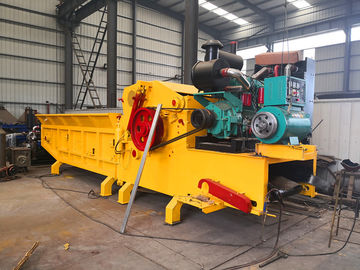 China Diesel Engine Powered Wood Chipper Drum Crusher machine with magnetic system for mobile usage distributor