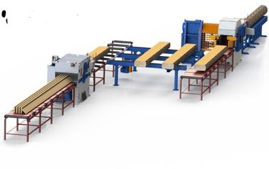 China Round Logs Sawing Multiple Blades Ripsaw Saw Production Line with auto inverter feeding distributor