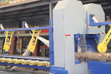 China Twin vertical bandsaw mill double cut sawmill Equipment for log edges cutting distributor