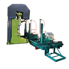 China MJ3210 40'' Automatic Wood Cutting Vertical Band Saw Sawmills Machine with Log Carrier distributor