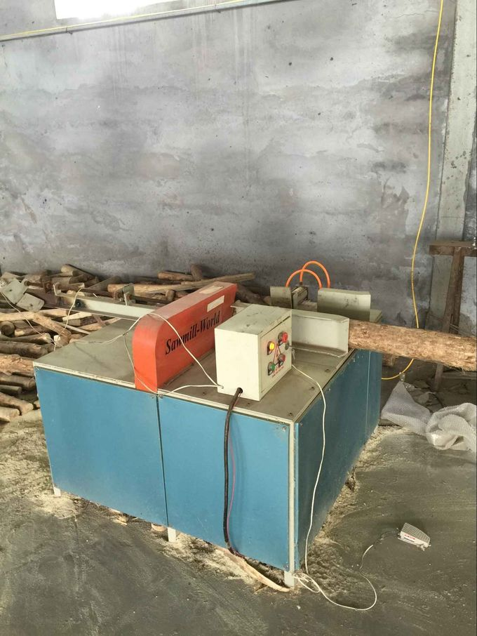 Pneumatic Log cutting off saw mill woodworking log cutter machine for round logs usage China supply