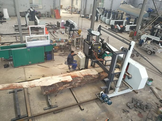 wood tree harvester band sawmill, large band saw for sale, log cutting band saw