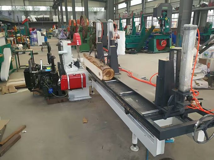 Double blades log sawing machine , electric table saw, wood cutting circular sawmill