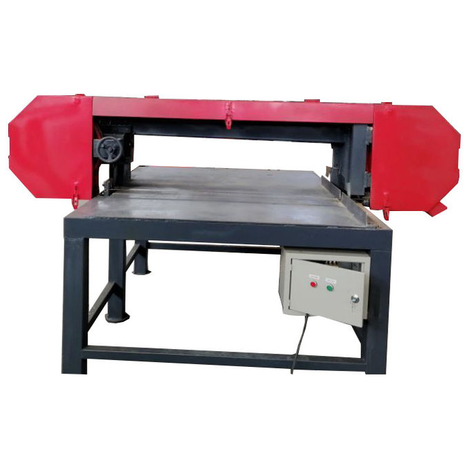 wooden pallet dismantling band saw machine horizontal portable cutting