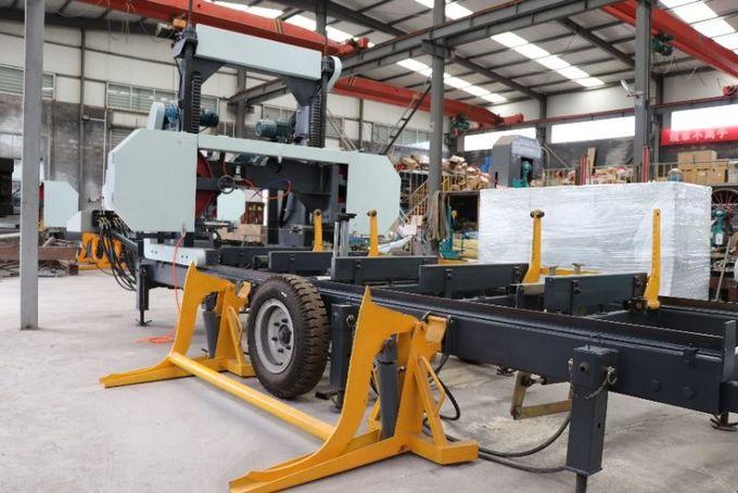 Automatic Portable Horizontal Bandsaw Sawmill machine with hydraulic
