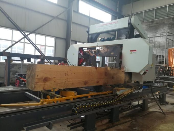 Hydraulic Full Automatic Portable Horizontal Band Sawmill with electrical motor