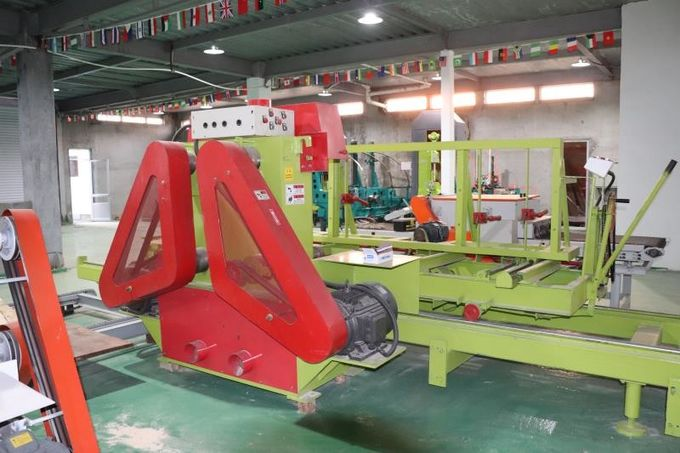 Price of Powerful 4 Shaft 4pc Circular Blades Sawmill with Log Carriage/sports Car