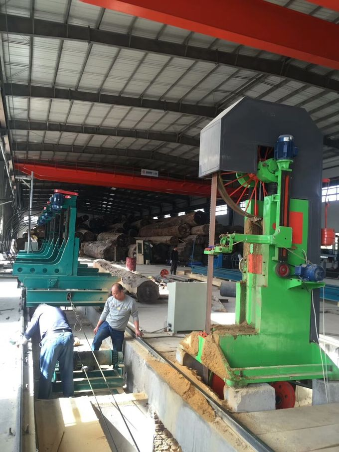 MJ3310 Vertical wood cutting band saw, log sawing sawmill machine with CNC Carriage
