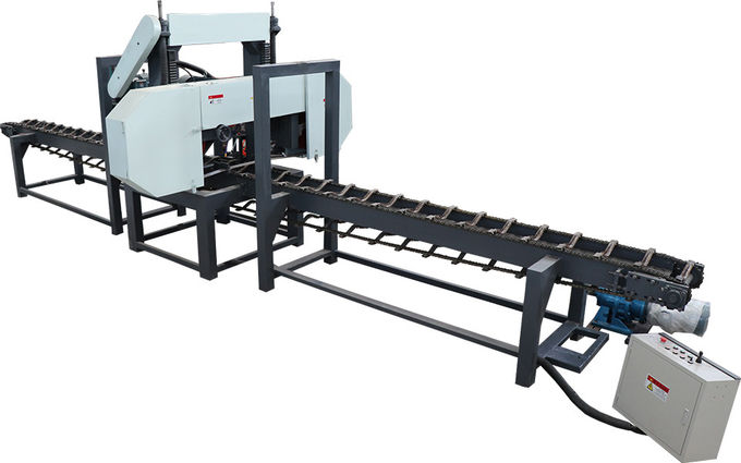 Woodworking Slabs Cutting Saw Mill, Horizontal band saw, single head resaws