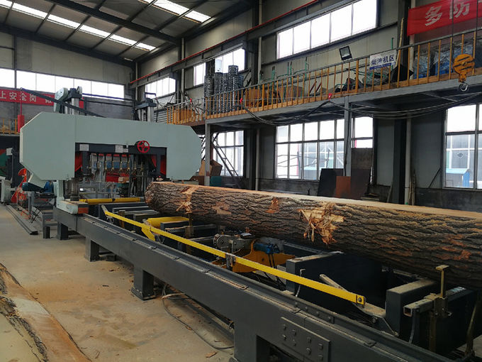 Quality Automatic Wood Cutting Hydraulic Horizontal Bandsaw Sawmill